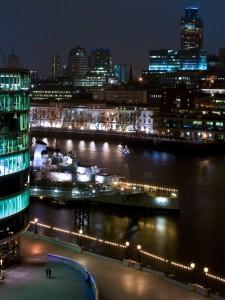 HMS Belfast night